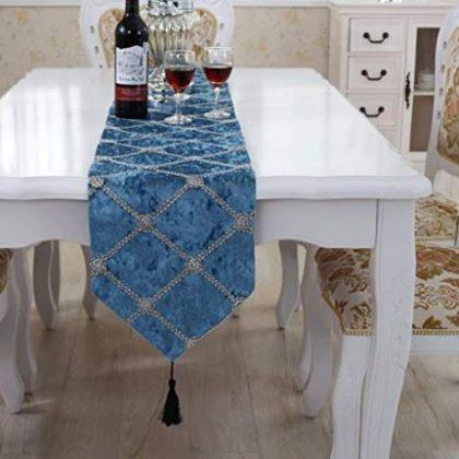 mantel azul elegante