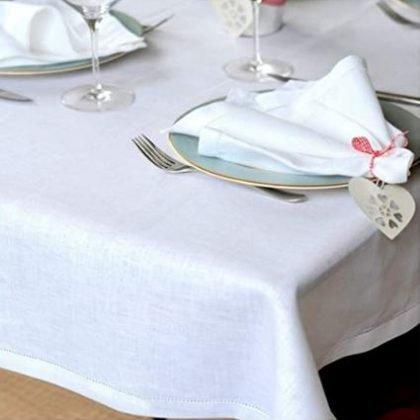 mantel blanco hostelería