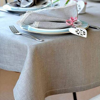 mantel de lino elegante
