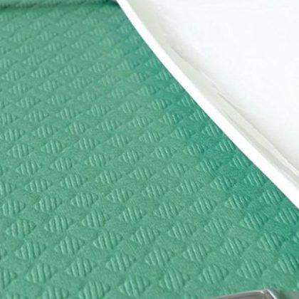 mantel de papel verde