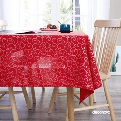 mantel de tela roja
