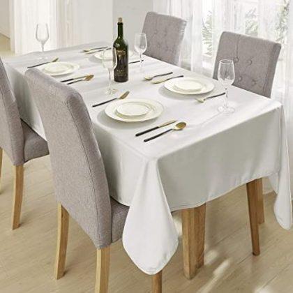 mantel restaurante blanco
