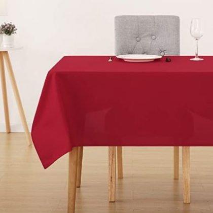 mantel rojo comedor