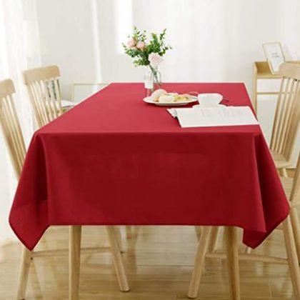 mantel rojo liso