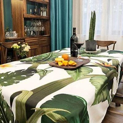 mantel verde comedor